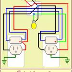 TEMA 23. Conexión de una lámpara incandescente controlada por dos apagadores de escalera con tomas de corriente en las cajas.