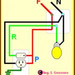 TEMA 22. Conexión de una lámpara controlada por un apagador sencillo y un contacto en la misma caja.