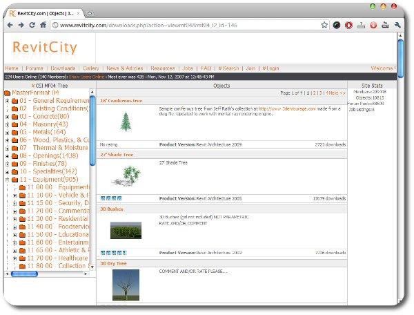 Sitios para descargar familias para Revit | CivilGeeks.com