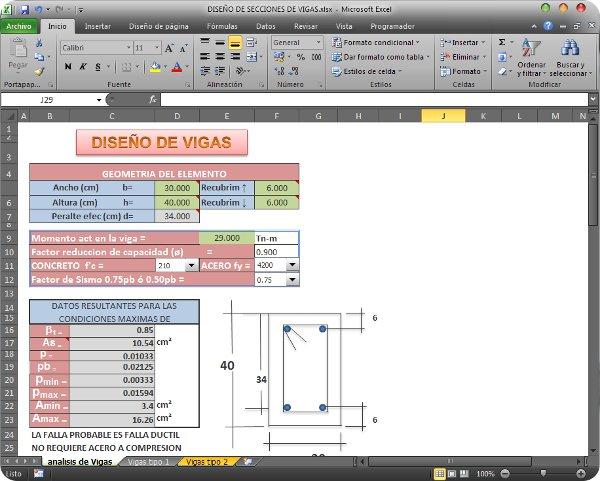 Hoja de calculo excel para diseño vigas   CivilGeeks.com