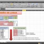 Hoja de cálculo Excel para diseño de lozas macizas