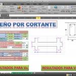 Hoja de cálculo Excel para diseño de Vigas por cortante