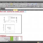 Hoja de cálculo Excel para diseño de zapatas aisladas