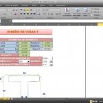 Hoja de cálculo excel para diseño de Vigas T