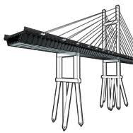 Puente de concreto con pilotes
