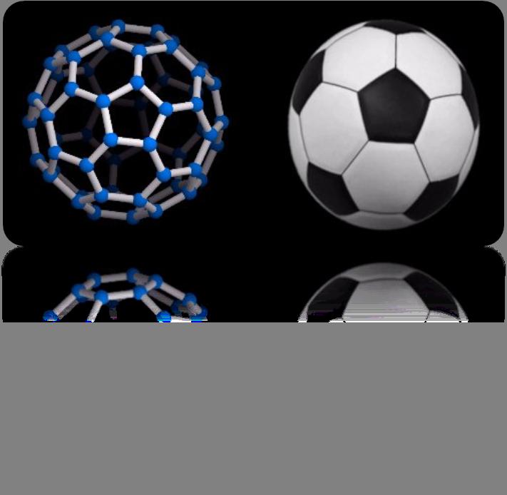 Fullereno como un balón de football