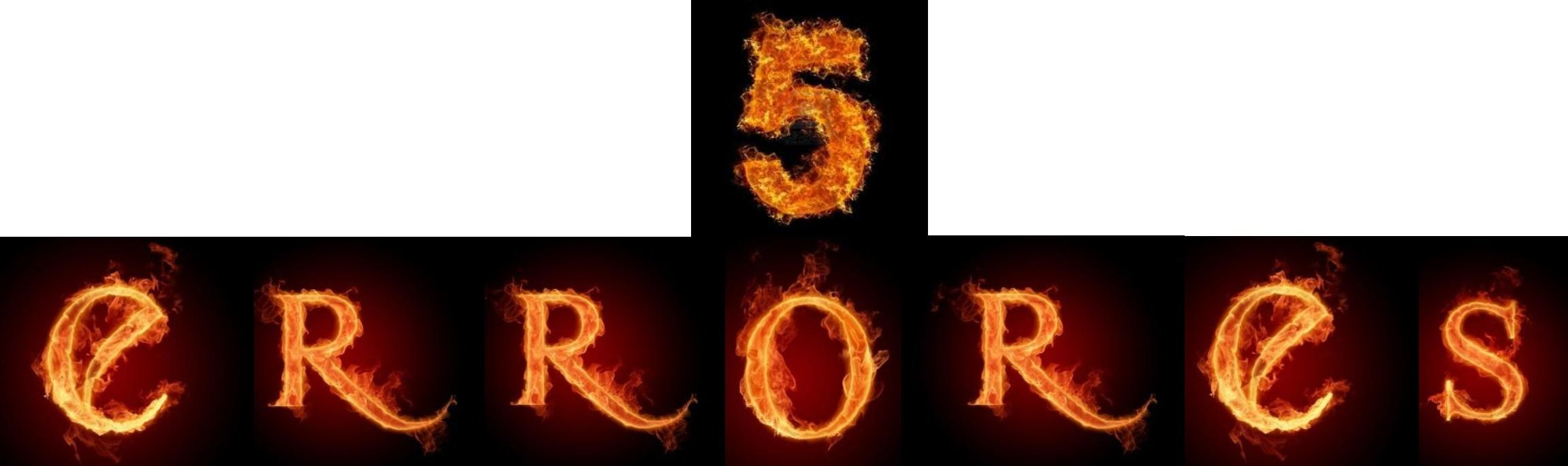 5 ERRORES