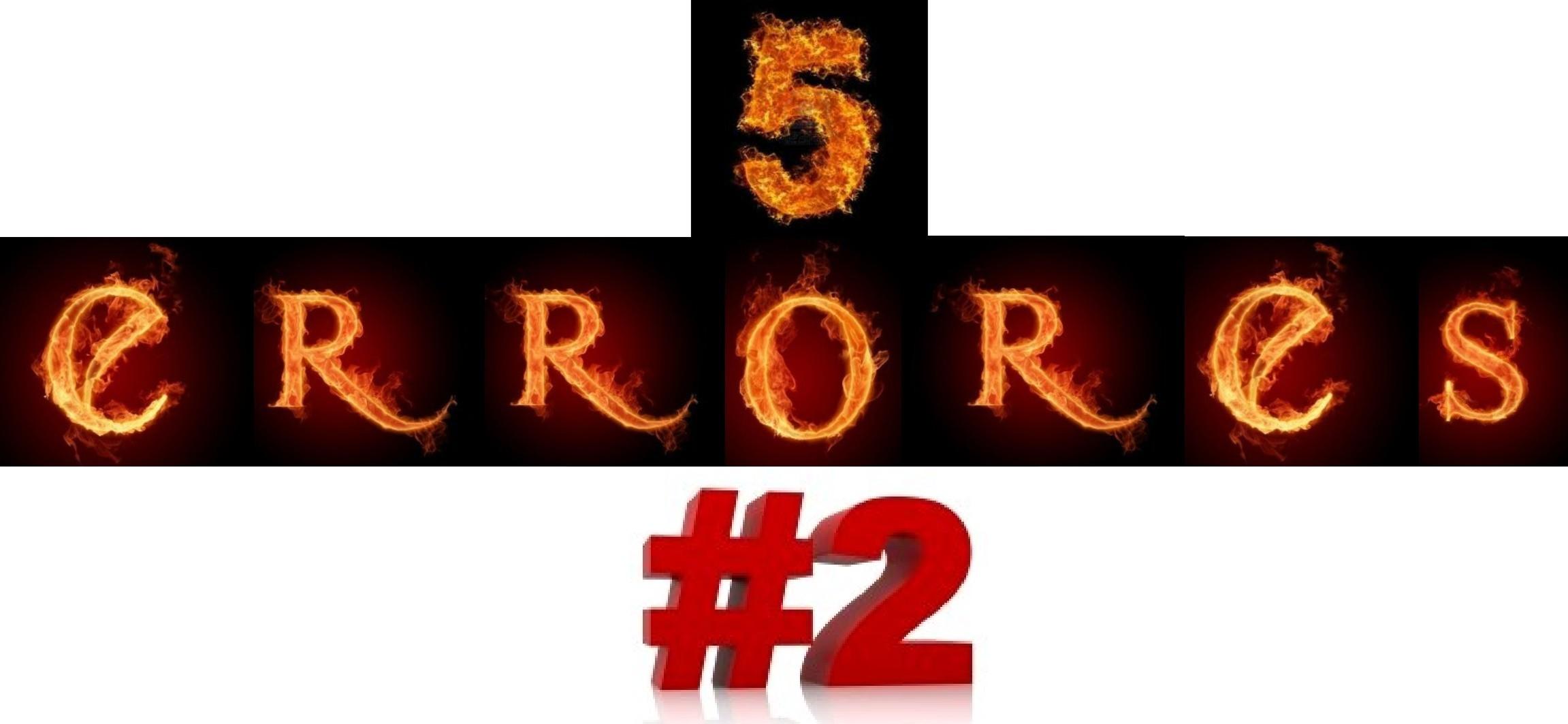 5 errores - 2