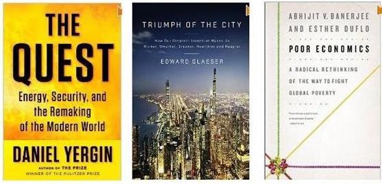 Portadas de los tres libros en cuestión