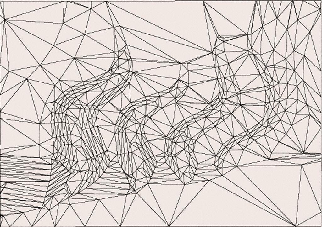 Una TIN: A mayor densidad de triángulos se asume mayor variación de la pendiente