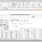 Hoja de calculo excel para ensayo de consolidación