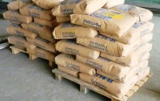 Almacenamiento del cemento y agregados