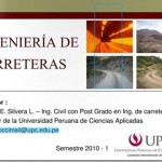 Diseño Geométrico de Carreteras – Clases UPC