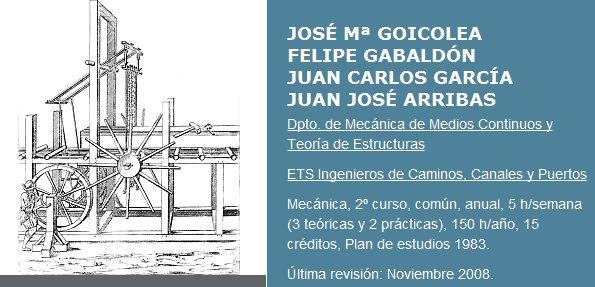 Curso, Mecánica [Universidad Politécnica de Madrid]