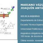 Curso: Mecánica de sólidos y sistemas estructurales [Universidad Politécnica de Madrid]