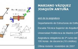 Curso, Mecánica de sólidos y sistemas estructurales [Universidad Politécnica de Madrid]