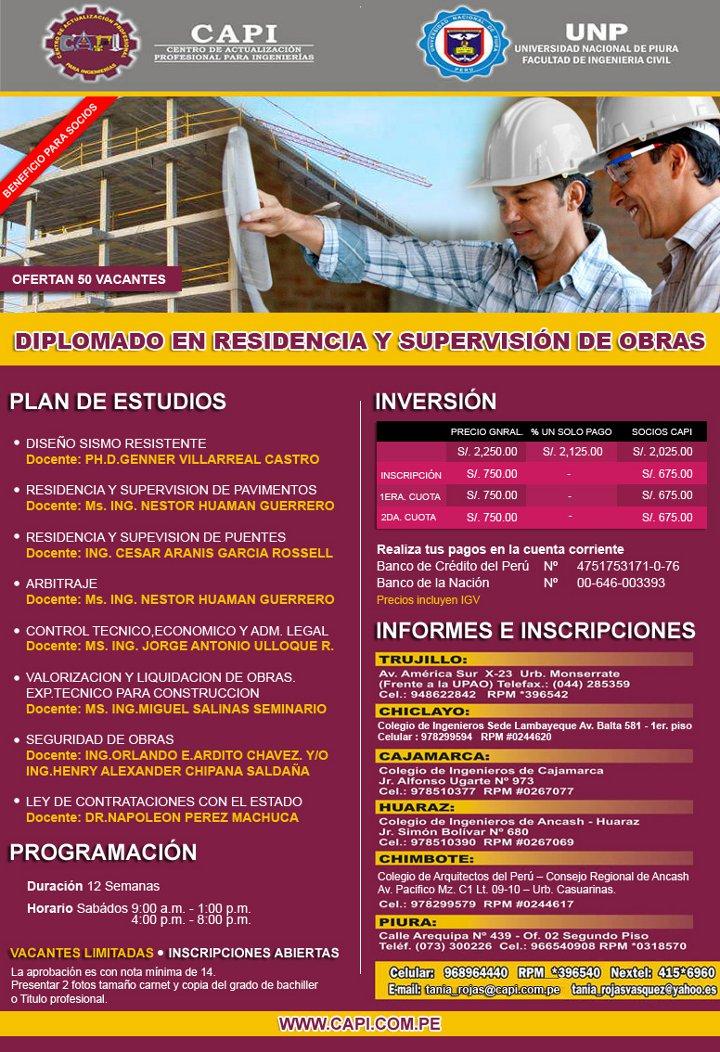 Diplomado en Residencia y Supervisión de Obras [Post patrocinado] 02