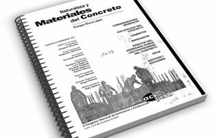 Libro sobre naturaleza y materiales del concreto