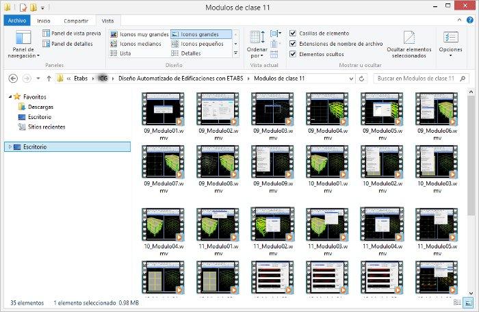 Video curso para iniciarse en el diseño automatizado de edificaciones con ETABS 02