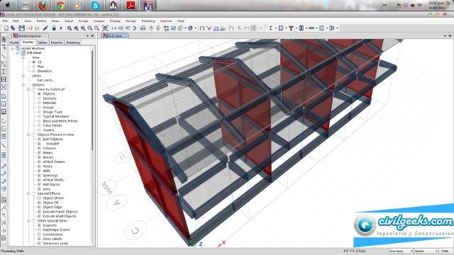 Video curso sobre cálculo de edificios de concreto armado con ETABS