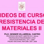 VIDEOS DE CURSO RESISTENCIA DE MATERIALES II (USMP) [Ph.D. Genner Villarreal ]