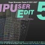 programa HPUserEdit. Para calculadoras HP serie 48, 48GII, 49G, 49G+, 50G
