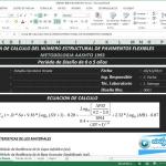 Excel para cálculo del número estructural de pavimentos flexibles con la metodología AASHTO 1993