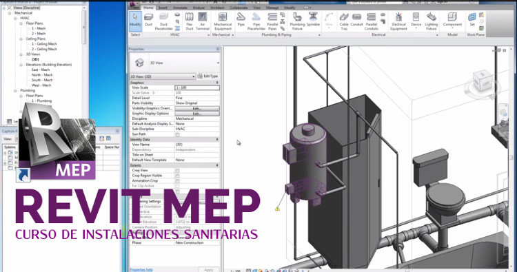 video tutorial de instalaciones sanitarias con revit mep 2014 2015 rh civilgeeks com AutoCAD MEP Revit MEP 2013 Tutorials