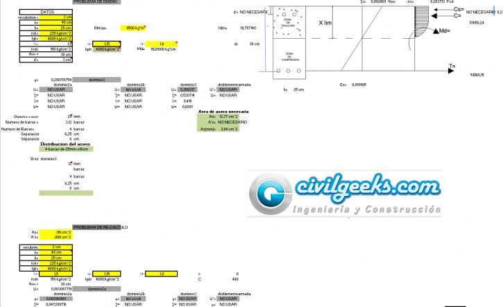 Diseño de Vigas 2015 Simples y doblemente Armadas