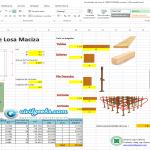 Hoja Excel para Encofrado de losa Maciza