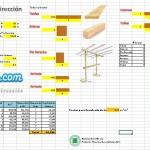 Hoja Excel para  encofrados de Losa