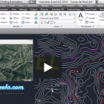 Aprender a Crear Curvas de nivel de Google Earth en AutoCAD [Video Tutorial]