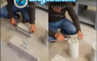 compresión diametral de Probetas de Concreto