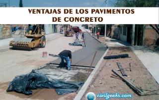 Ventajas de los Pavimentos de Concreto