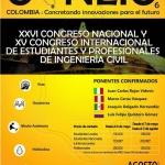 XXVI CONGRESO NACIONAL Y XV INTERNACIONAL DE ESTUDIANTES Y PROFESIONALES DE LA INGENIERIA CIVIL CONEIC 2016 #COLOMBIA