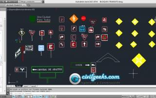Descargar Bloques de Tránsito en AutoCAD