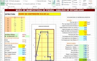 EXCEL Y CAD MURO MAMPOSTERIA 01