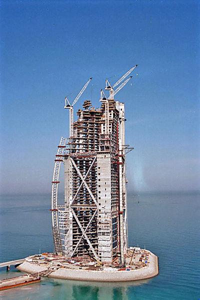 Construcción del Hotel Burj Al Arab