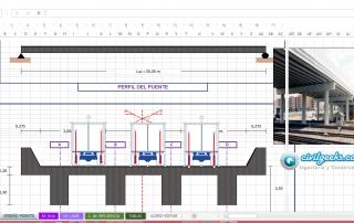 Hoja Excel para el cálculo y diseño de puentes tipo T