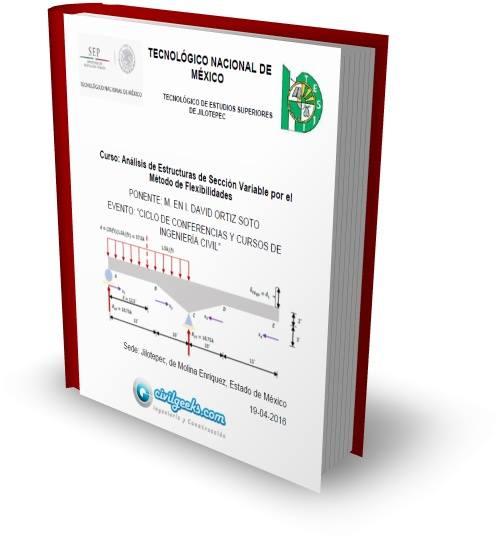 """Portada Curso """"Análisis de Estructuras de Sección Variable con el Método de Flexibilidades"""""""