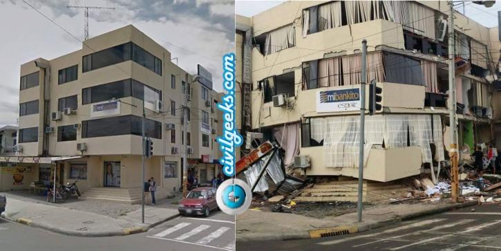 estructuras antes y después del sismo en la zona cero de Ecuador 4