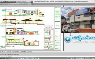 Diseño Arquitectónico del Centro de Salud para una población con 5000 habitantes