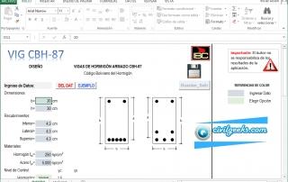 Excel para el Diseño y Análisis de Vigas Rectangulares de Hormigón Armado [CBH-87]