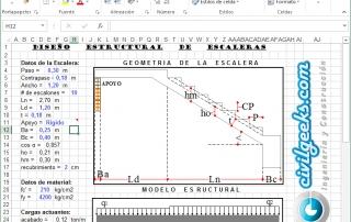 Hoja Excel para el Cálculo Estructural de Escaleras