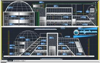 Planos de arquitectura para un Centro Cultural