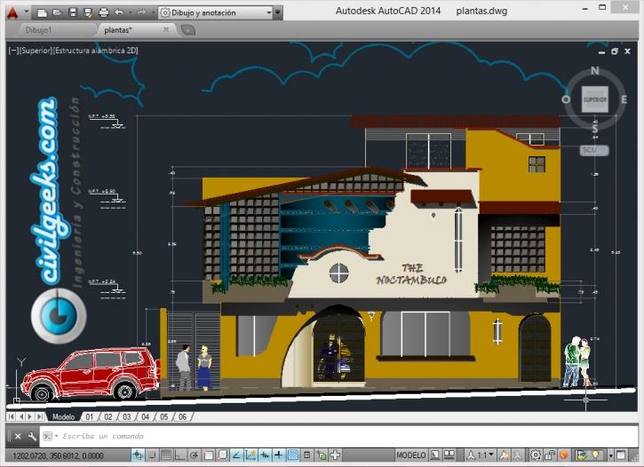 Proyecto arquitectónico para un Restaurante de dos niveles