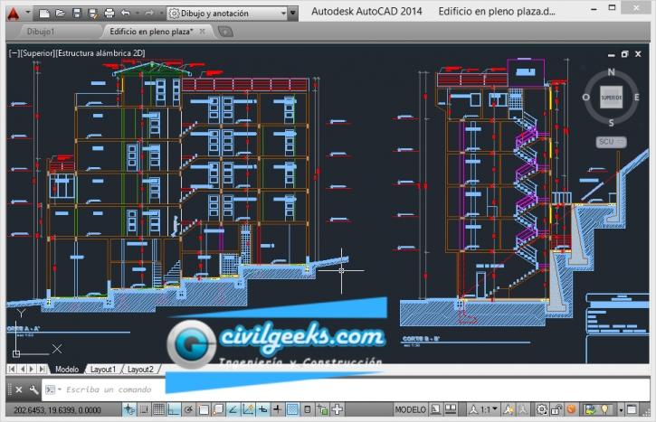 Descargar planos para la construcción de un Edificio de 6 niveles