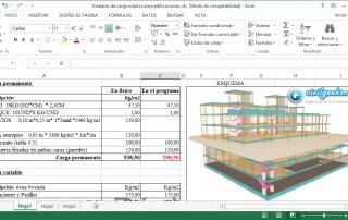 Excel para el Análisis de Cargas Estáticas en edificaciones