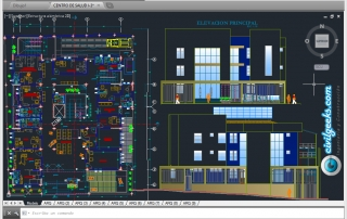 Planos de Arquitectura para un centro de salud tipo I