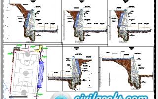 Planos para un Muro de contencion de mamposteria de piedra